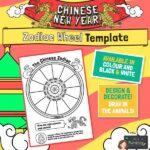 CNY Display Zodiac Wheel Template