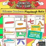 CNY Chinese Numbers Playdough mats 1 10