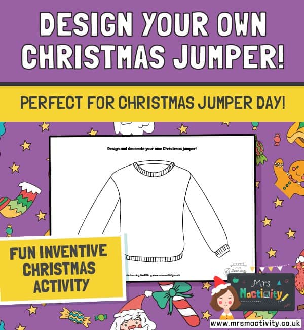 Design a Christmas Jumper Activity Sheet