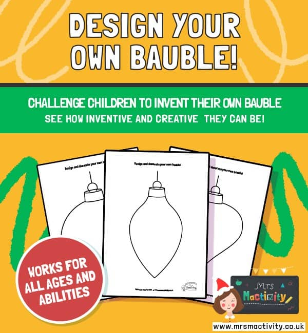 Christmas Bauble Decoration Activity