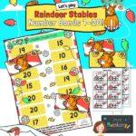 Christmas number bonds maths game