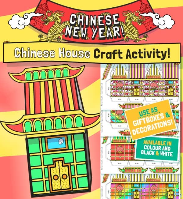 Chinese New Year House Craft Template