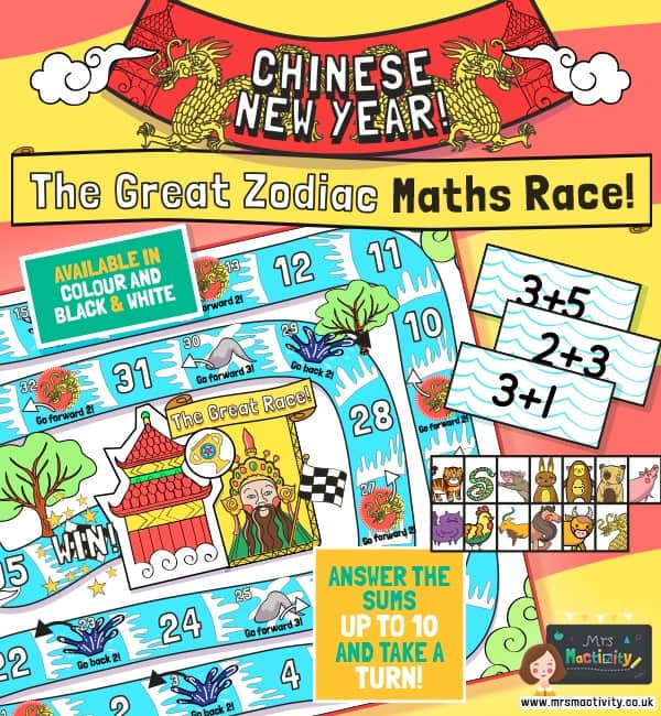Chinese New Year Maths Race Game