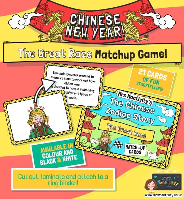 Chinese New Year The Great Race Match-up Cards
