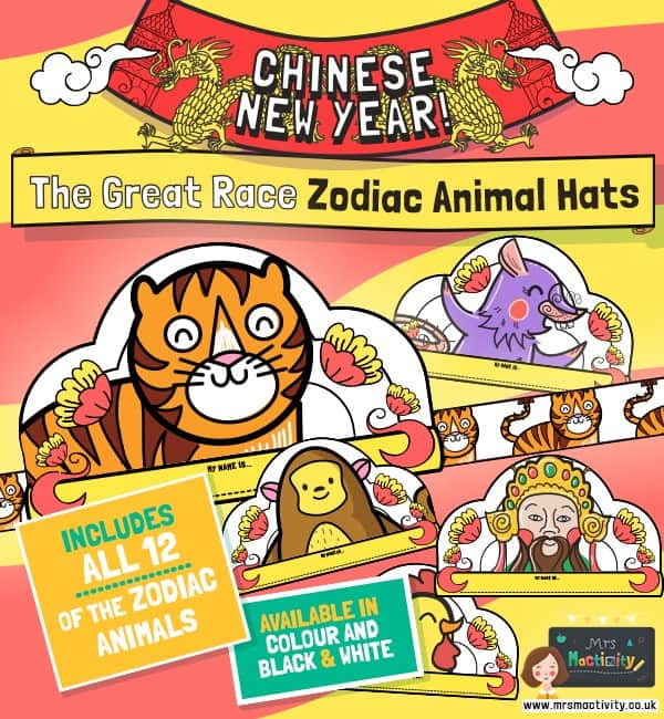 Chinese new year zodiac hats