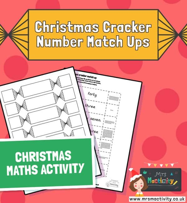 Christmas cracker number match ups