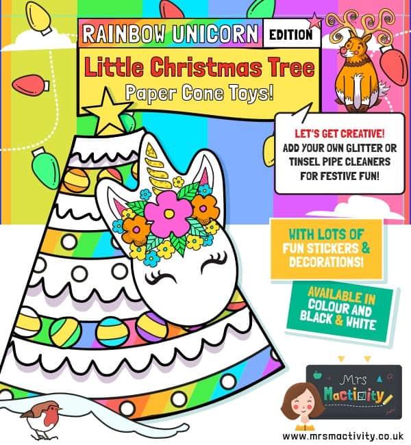 Unicorn Rainbow Christmas Tree