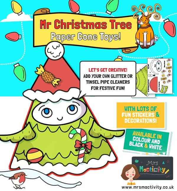 Mr Christmas tree cone character