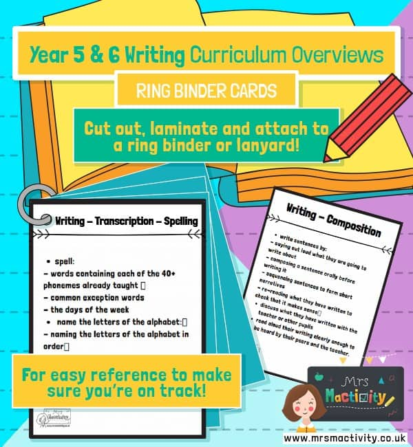 Year 5 and 6 Writing Curriculum Overviews