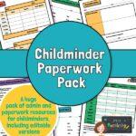 Childminder paperwork pack preview