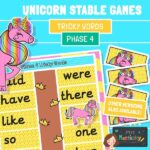 phase 4 tricky words unicorn game
