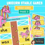 Phase 3 Tricky Words Unicorn Stabling Game