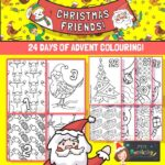 24 advent colouring pages