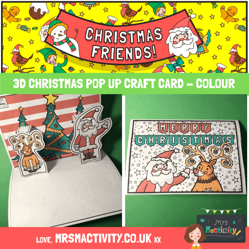 3D Christmas Pop Up Craft Card