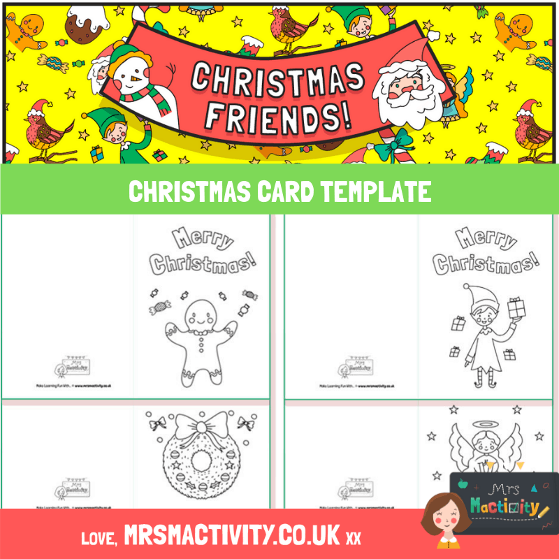 Christmas Card Template pdf