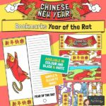 Year of the rat bookmark craft