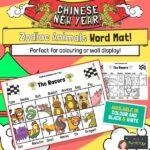 Chinese zodiac word mat