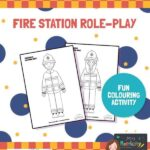 Fire station colouring sheets preview