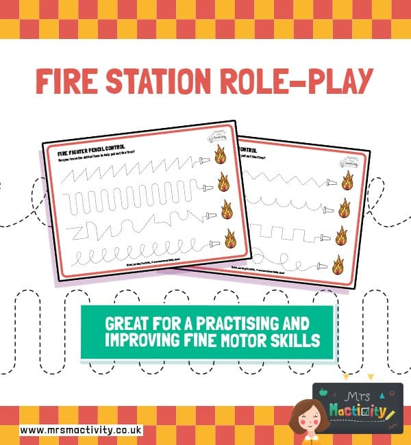 Fire Station Pencil Control Activity