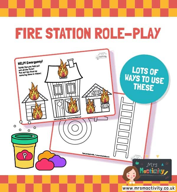 Fire Station Playdough Mats