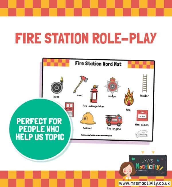 Fire Station Word Mat