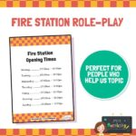 Fire Station Opening Times Poster