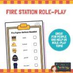 Fire station role play uniform checklist