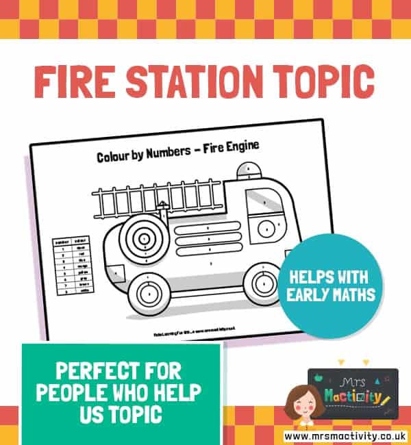 People who help us fire stationeries colour by number