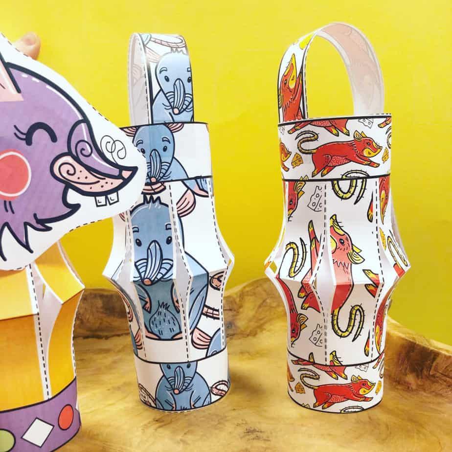 year of the rat Chinese lantern craft