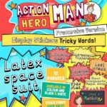 Action Hero Man Display Words