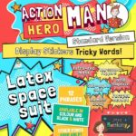Action Hero Man Tricky Words Diplay Stickers Standard