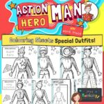 Action Hero Man Colouring Pages Special Outfits