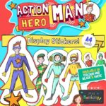 Action Hero Man Display Stickers