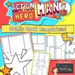 Action Hero Man Comic Book Template