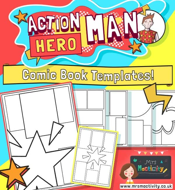 Action Hero Man Comic Book Template