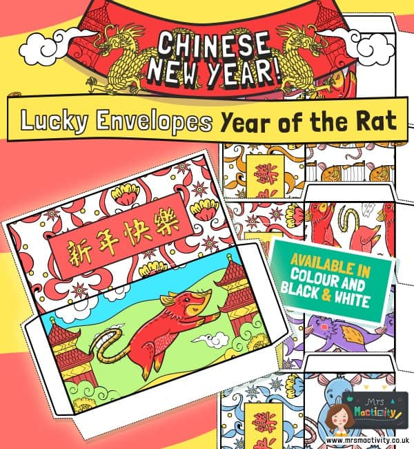 Year of the Rat Lucky Envelopes