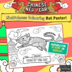 CNY Mindfulness Colouring Rat Poster 2020