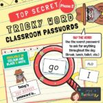 Tricky Words Classroom Passwords Phase 2