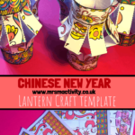 Chinese new year lantern craft template
