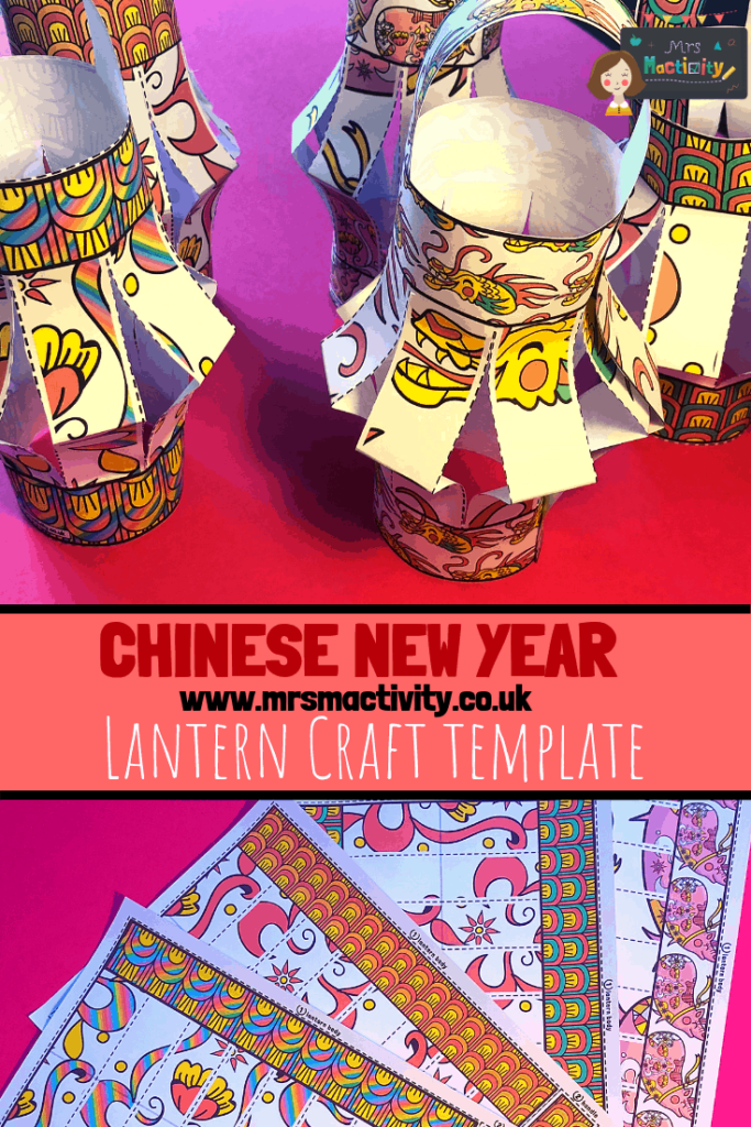 Chinese new year lantern craft template