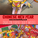 Chinese New year dragon paper craft model