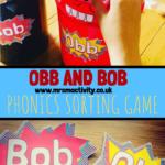 Obb and Bob Phonics sorting game