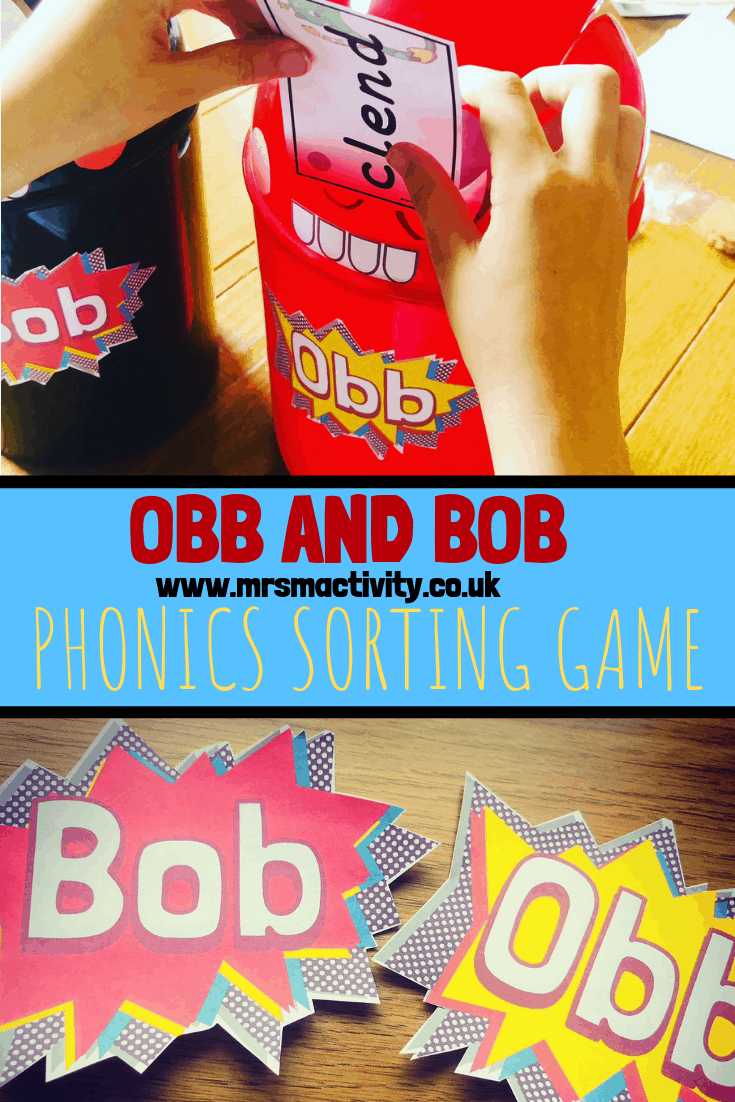 How to Make an Obb and Bob Phonics Sorting Game