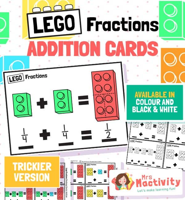 lego fraction challenge cards