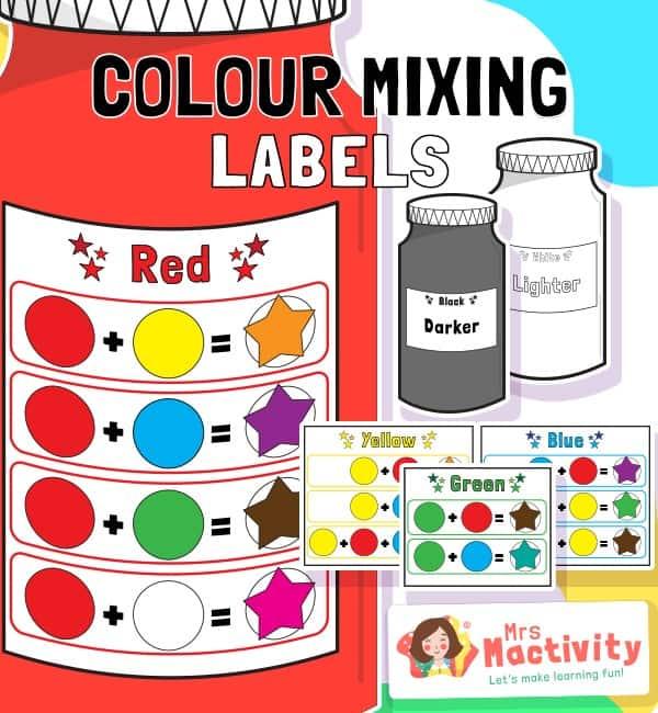 Colour Mixing Labels