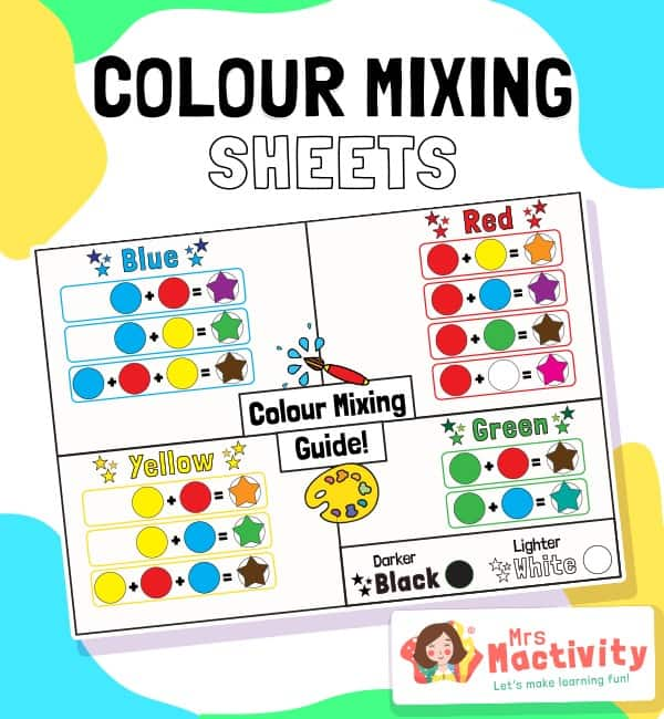 Colour Mixing Display Poster