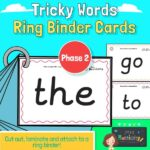 Phase 2 tricky words flashcards