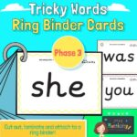 Phase 3 Tricky Word Cards