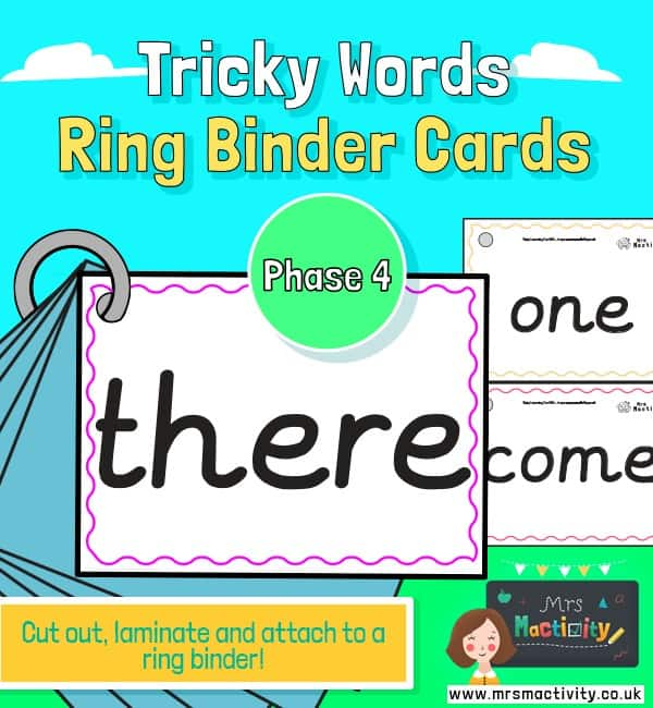 Phase 4 tricky word cards