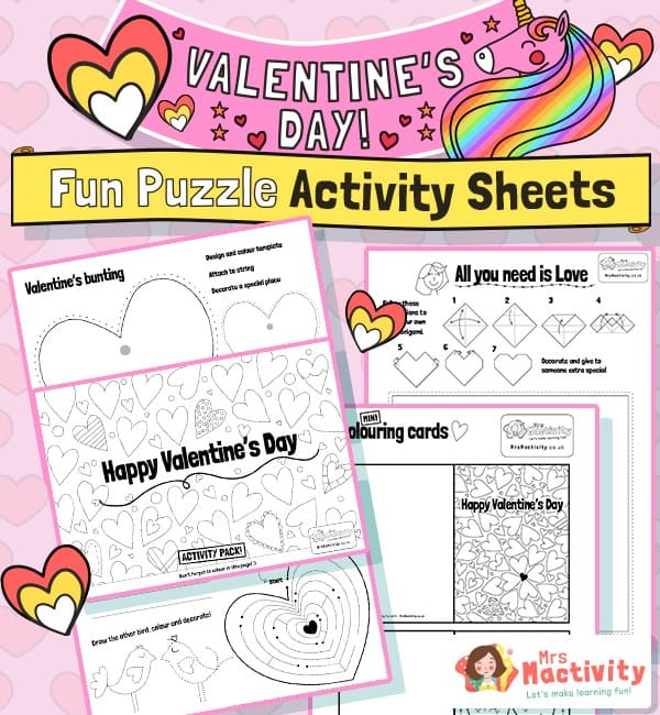 Valentine's Day worksheets KS1